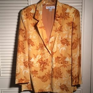 Blazer. Medium, Saks Silk Summer Jacket, Gorgeous